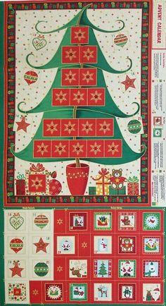 Fabric Advent Calendar  Christmas Tree by Kimboskushionskrafts, £25.00