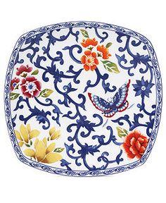 Lauren Ralph Lauren Dinnerware, Mandarin Blue Square Collection - Fine China - Dining & Entertaining - Macy's, $25; Neiman Marcus: $18