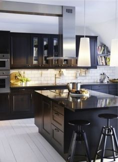 IKEA Kitchen - modern - kitchen - other metro - IKEA; pinned for subway tile, bonus that most items come from IKEA.