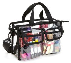 Medium Makeup Artist Clear PVC Set Bag w/ Removable Shoulder Strap