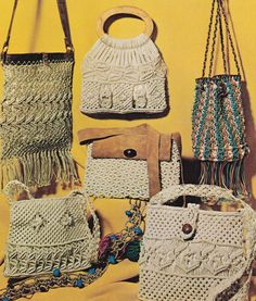 Vintage Macrame Patterns for 12 Belts Bags and Knot Reference - SewJewel - 2