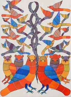 Kaushal Prasad. Gond Tribal Painting