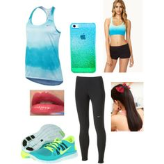"""Blue Gym"" by londynk101 on Polyvore,i want green and volt nike free 5.0, cheap website for nikes 54% off        #cheap #nike #free"