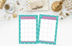 Small Printable Planner  Monthly Calendars  by ThePreppyGreek, $15.00