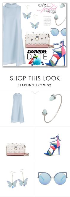"""""""Formal Summer Date Night"""" by jecakns ❤ liked on Polyvore featuring Matthew Williamson, WALL, dress, formal, lightblue, zaful and summerdatenight"""