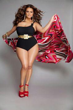f18705cacd Love this swim suit Plus Size Women, Curvy Plus Size, Curvy Girl Fashion,