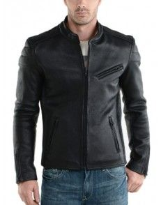 Black Biker Simple Leather Jacket