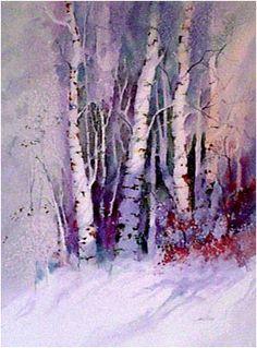 "John Ebner - Prints, ""Winter Birches"""