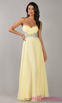 Floor Length Stapless Sweetheart Dress at PromGirl.com