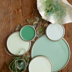 Shades of Seafoam, lovely! I'm dreaming of a kitchen in these shades.