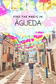 The magical place Águeda near Aveiro with The Sky Project and its umbrellas and street art is on the blog with all the travel tips how to go there. www.ejnets.com