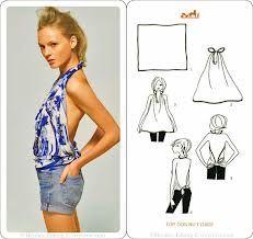 DIY: Como convertir tus chales/pañuelos en ropa | Belleza