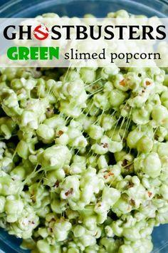 Green Slimed Popcorn | Community Post: 14 Creative And Easy Last Minute Halloween Treats