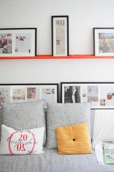 "Framing newspaper and magazine articles.  Georgia's ""Primitive Modern"" Austin Home"