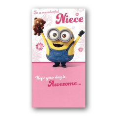 Minions Birthday Card - Niece