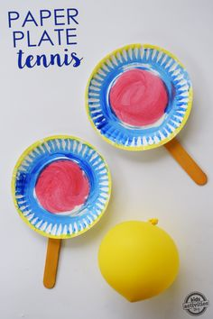 We love simple kids activities. The easier the better. Who needs to get rackets and go to a court to play tennis when you can make an inside ver Crafts for Kids, Family Activities (all ages), It's Playtime, Kids Activities (by Age)