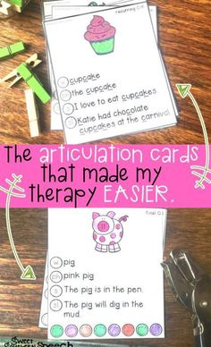 Love these amazing articulation cards - they have all levels included! Picture, word, phrase, sentence, and sound loaded sentences! Perfect for speech therapy!
