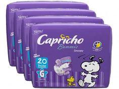 Kit de Fraldas Capricho Bummis Snoopy G - 4 Pacotes com 20 Unidades