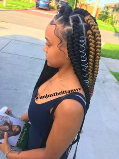 22 Latest Bohemian Feed In Braids Hairstyles Ponytails To Copy In 2019 Feed In Braids Hairstyles, Crochet Braids Hairstyles, Braided Hairstyles For Black Women, 2 Feed In Braids, Woman Hairstyles, Teenage Hairstyles, American Hairstyles, Dreadlock Hairstyles, Wedding Hairstyles