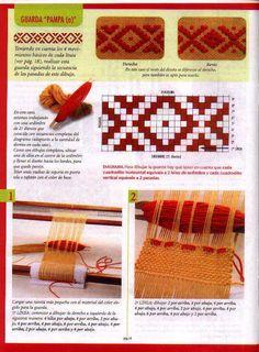 Wuitral Kapen: Őrzők a fésűkernyőben (Maria Loom) Inkle Weaving, Inkle Loom, Weaving Yarn, Tablet Weaving, Tapestry Weaving, Hand Weaving, Weaving Projects, Woven Wall Hanging, Weaving Patterns