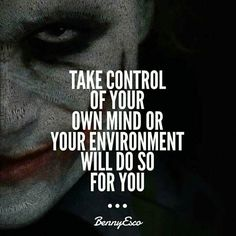 Take control of your own mind