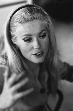 Catherine Deneuve on the set of La Costanza della ragione (1964)