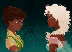 Frozen Fever by juliajm15 on @DeviantArt Black Girl Art, Black Women Art, Black Art, Black Disney Princess, Princess Tiana, Disney Frozen, Disney Bound, Elsa Frozen, Disney Magic