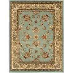 Ottomanson Traditional Oriental Light Blue 7 ft. 10 in. x 9 ft. 10 in. Area Rug-RYL1096-8X10 - The Home Depot
