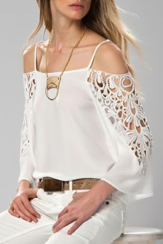 Купить Блузка Milla MLWSS157144_ECRU WHITE со скидкой в интернет-магазине kupivip.ru - распродажа