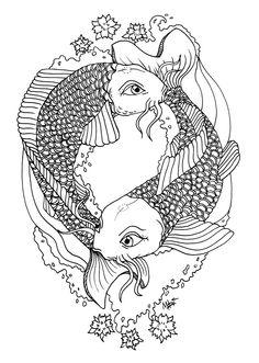Koi Tattoo by MaryMaryLP @ DeviantArt