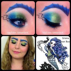 Sirena von Boo Makeup :D Demon Makeup, Eye Makeup Art, Eye Art, Diy Makeup, Makeup Inspo, Makeup Ideas, Makeup Pics, Makeup Goals, Monster High Cosplay