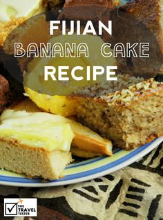 Monthly World Food Feature: Fijian Banana Cake Recipe. A party without banana cake in Fiji is like no party at all. Here is the recipe for 20 people! Fijian Desserts, Fijian Recipes, Banana Bread Recipes, Cake Recipes, Fiji Food, Mayonaise Cake, Delicious Desserts, Yummy Food, Polynesian Food