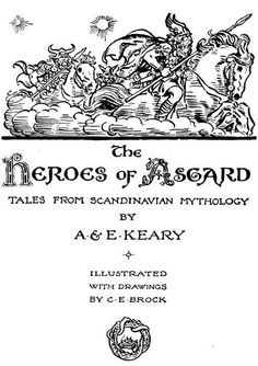 Illustrations from The Heroes of Asgard by C.E. Brock