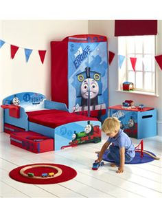 Thomas the Tank Engine Toddler Bedroom. Fantastic beds and storage solutions