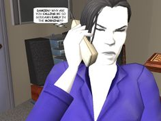 #courtleymanor #gothic #sims2 #comic #goth #sims #phone #earlymorning #phonecall