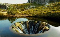 Water hole in Portugal Looks Like a Portal to Another Dimension | Geology IN