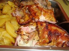 Cabrito Assado no Forno (2) Chicken Pasta Recipes, Lamb Recipes, Curry Recipes, Healthy Chicken Recipes, Clean Recipes, Dinner Recipes, Cooking Recipes, 185, Portuguese Recipes