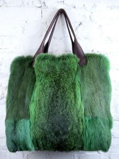 Gorgeous Green Fur Shopper