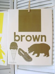Vintage Color Prints (brown and yellow). Would be so perfect in a nursery.