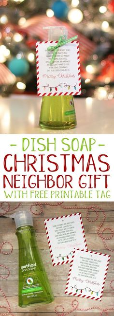 Easy and punny Christmas neighbor gift idea with free printable tag