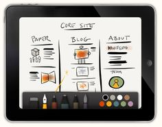 Paper is a great app for your iPad. It's a great app for your grandkids to have on mom's iPad. They can draw grandma a picture and email it to her (me). Blog Do Iphone, App Iphone, Ios App, Ipad Pro Apple, App Ipad, Game Design, Sketchbook App, Paper App, Application Iphone