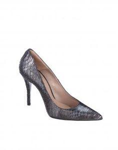 $128 Zapato salón Gloria Ortiz gris print serpiente
