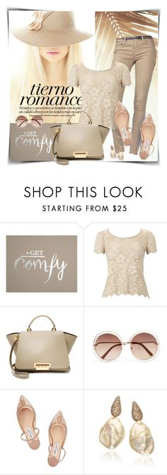 """""""Neutrals with class"""" by sheryl-lee ❤ liked on Polyvore featuring Graham & Brown, Lipsy, ZAC Zac Posen, Chloé and Jimmy Choo"""