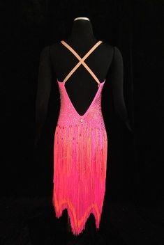 Beautiful Rhythm/Latin Fringe Dress For Rent Exclusively Through Classic Ballroom Elegance, www.cberentals.com