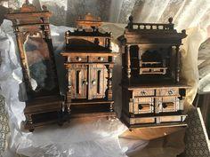 Guterhaltene Wohnzimmer-Möbel : Buffet, Aufsatzkommode, Spiegel, Original um1890 | eBay