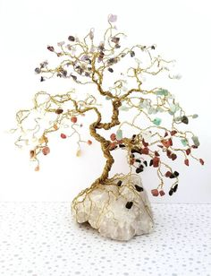 Chakra Bonsai Gem Trees are fun decor pieces for meditation rooms!