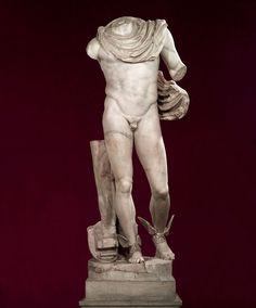 Statue of Mercury. Paros marble. 2nd century AD
