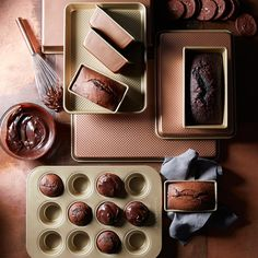 Williams Sonoma Copper Goldtouch® Nonstick Mini Loaf Pans, Set of 4 Half Sheet Pan, Mini Loaf Pan, Berry Tart, Copper Handles, Talavera Pottery, Dishwasher Soap, Ceramic Coating, How To Make Chocolate, Houses