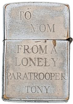 <b>A collection of engraved Zippo lighters from soldiers of the Vietnam War recently sold at auction for over $30,000.</b> The poignant engravings often reveal a biting gallows humor.