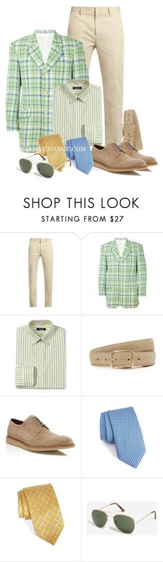 """Натуральный"" by design-lenasidneva ❤ liked on Polyvore featuring Calvin Klein Collection, Kenzo, Lands' End, Club Monaco, To Boot New York, Vineyard Vines, Robert Talbott, J.Crew, men's fashion and menswear"
